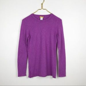 J. Crew Divina 100% Cashmere Crewneck Sweater